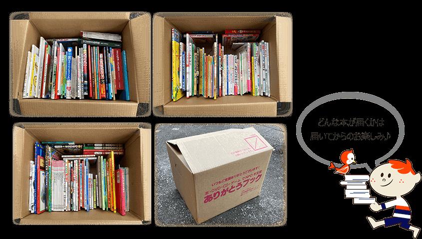 どんな本が届くかは、届いてからのお楽しみ。